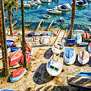 Dubrovnik Croatia - Sea Of Boats Poster