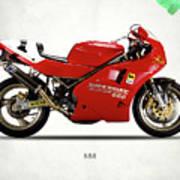 Ducati 888 Poster