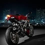 Ducati By Moonlight Poster