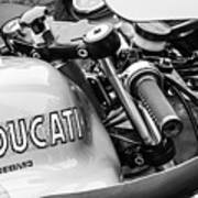 Ducati Desmo Motorcycle -2127bw Poster