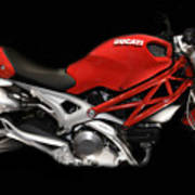Ducati Monster In Red Poster
