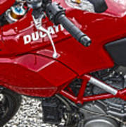 Ducati Red Poster by Diane E Berry