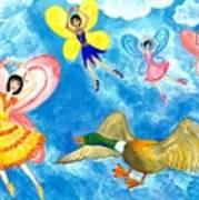 Duck Meets Fairy Ballet Class Poster