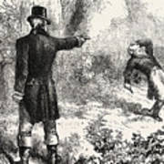 Duel Between Burr And Hamilton Poster