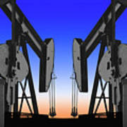 Dueling Oil Well Pumps Poster