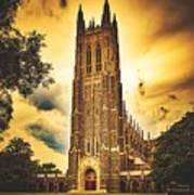 Duke University Chapel At Dusk Poster