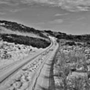 Dune Path In Black And White Poster