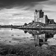 Dunguaire Castle In Black And White Poster