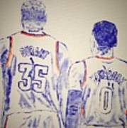Durant And Westbrook Poster