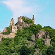 Durnstein Castle And Stone Outcroppings Poster