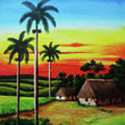 Dusk In A Cuban Countryside Poster