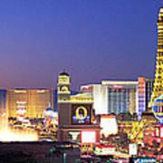 Dusk, The Strip, Las Vegas, Nevada, Usa Poster