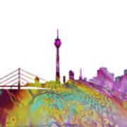 Dusseldorf Skyline 3 Poster