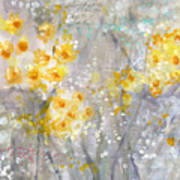 Dusty Miller- Abstract Floral Painting Poster