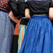 Dutch Dancers In A Huddle Poster