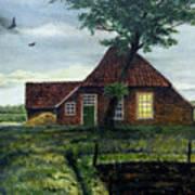 Dutch Farm At Dusk Poster