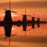 Dutch Sillhouette Poster
