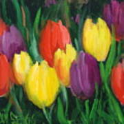 Dutch Tulips Poster