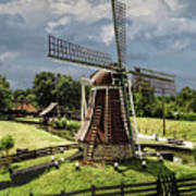 Dutch Windmill Near The Zuider Zee Poster