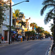 Duval Street In Key West Poster by Susanne Van Hulst