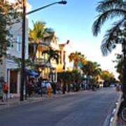 Duval Street In Key West Poster by Susanne Van Hulst