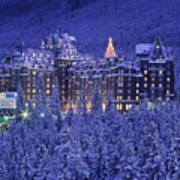 D.wiggett Banff Springs Hotel In Winter Poster