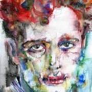 Dylan Thomas - Watercolor Portrait.5 Poster