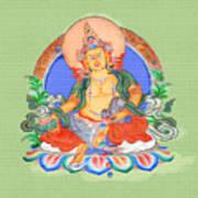 Dzambala The Buddha Of Wealth Poster