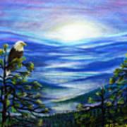Eagle Blue Ridge Mountain Sunrise Poster
