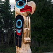 Eagle Clan Totem Pole Poster