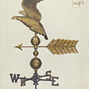 Eagle Weather Vane Poster