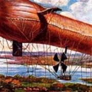 Early 1900s Military Airship Poster