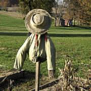 Early Autumn Scarecrow Poster