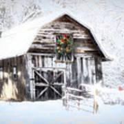 Early December Snowfall Morning Poster