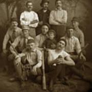 Early Monterey Baseball Team Circa 1895 Poster
