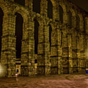 Early Morning At The Aqueduct Of Segovia Poster