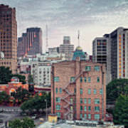 Early Morning Panorama Of Downtown San Antonio Skyline And Architecture - Bexar County Texas Poster