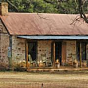 Early Texas Farm House Poster