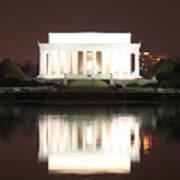 Early Washington Mornings - Lincoln Reflecting Poster
