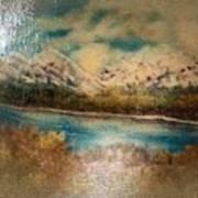 Early Winter Mountain Range Poster