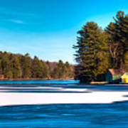 Early Winter On Old Forge Pond Poster