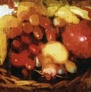 Earthtone Fruit Fresco Poster
