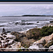 East Boothbay, Maine Ocean View, Framed Poster