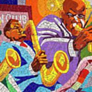 East Eleventh Street Tile Mural Austin Poster