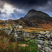 East Face Tryfan Snowdonia Poster