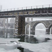 East Falls - The Frozen Schuylkill River Poster