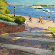 East River From Carl Schurz Park Poster