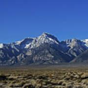 East Side Sierra Nevada Range Poster