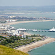 Eastbourne From Beachy Head Sussex Uk Poster