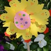 Easter Chick Decoration Poster
